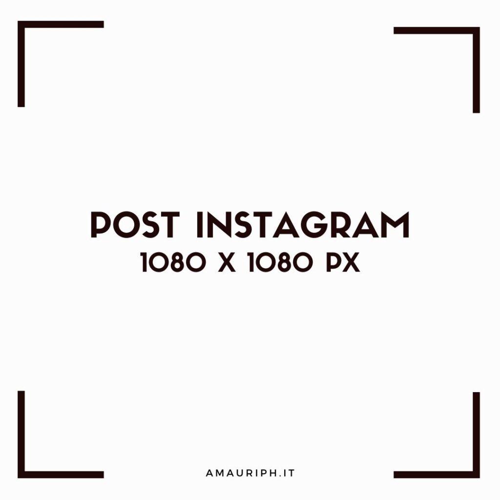 FORMATO FOTO INSTAGRAM 1080X1080PX