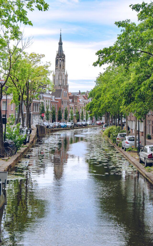 delft paesi bassi city landscape canale città