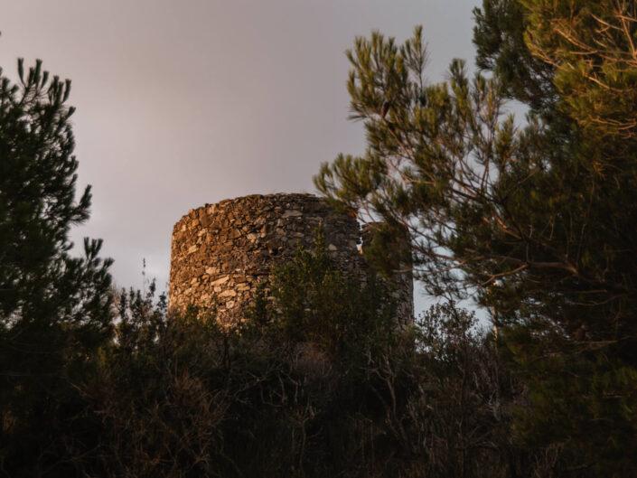 colla micheri fotografia paesaggio alba torre