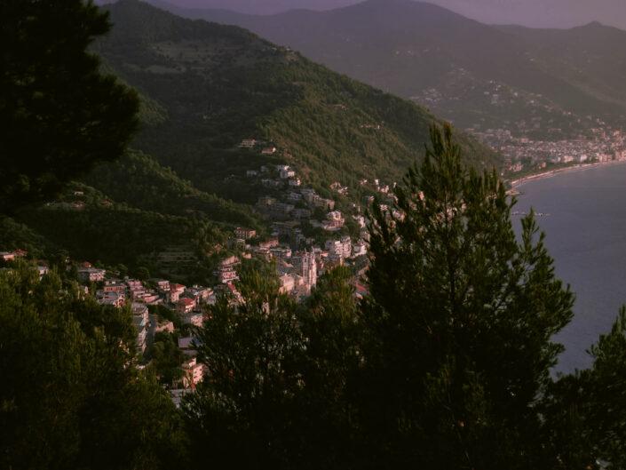 colla micheri fotografia paesaggio alba città dall'alto