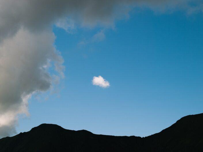 fotografia sentiero casere montagna cielo