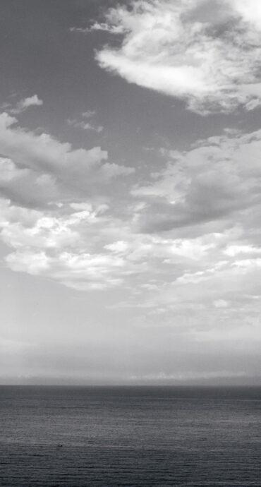 foto mare bianco e nero